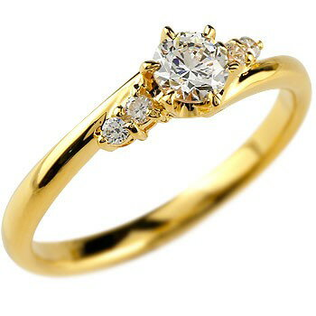 婚約指輪 エンゲージリング ダイヤモンド 一粒 大粒 ダイヤ イエローゴールドK18 18金 ダイヤ ストレート レディース ブライダルジュエリー ウエディング 贈り物 誕生日プレゼント ギフト ファッション 18k お返し