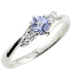 婚約 指輪 エンゲージリング タンザナイト ダイヤモンド ダイヤ リング 指輪 一粒 大粒 ホワイトゴールドK18 ストレート 18金 宝石 プレゼント 女性 送料無料 LGBTQ 男女兼用