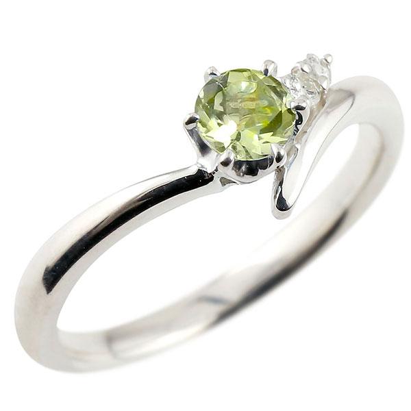 婚約指輪 エンゲージリング ペリドット プラチナリング ダイヤモンド 指輪 ピンキーリング 一粒 大粒 pt900 レディース 8月誕生石 V字 贈り物 誕生日プレゼント ギフト お返し 春コーデ
