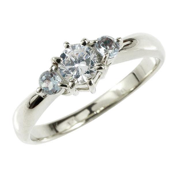 婚約指輪 エンゲージリング プラチナ ダイヤモンド リング アクアマリン 指輪 大粒 ダイヤ ダイヤモンドリング ダイヤ ストレート レディース ブライダルジュエリー ウエディング 贈り物 誕生日プレゼント ギフト お返し