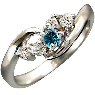 指輪 プラチナリング エンゲージリング ダイヤモンド ブルーダイヤモンド リング ピンキーリング ダイヤ 婚約指輪 ダイヤモンドリング ストレート レディース ブライダルジュエリー ウエディング 贈り物 誕生日プレゼント ギフト お返し