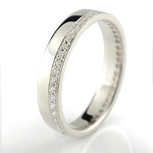 プラチナ 指輪 40代 普段使い 婚約指輪 エンゲージリング ダイヤモンド ダイヤ エタニティ フルエタニティストレート プレゼント 女性 送料無料 人気