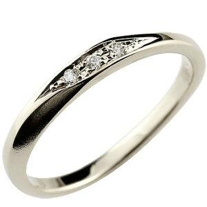 ピンキーリング ダイヤモンリング 指輪 ホワイトゴールドk18 18金 ダイヤ つや消し シンプル レディース ストレート 送料無料 人気