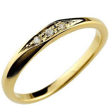 婚約指輪 エンゲージリング ダイヤモンドリング ダイヤ 指輪 イエローゴールドk18 18金 つや消し レディース ストレート 贈り物 誕生日プレゼント ギフト ファッション 18k お返し