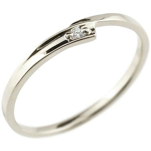 婚約指輪 エンゲージリング ダイヤモンド ピンキーリング ホワイトゴールドk18 ダイヤ 18金 極細 華奢 スパイラル 指輪 結婚指輪 贈り物 誕生日プレゼント ギフト ファッション 18k Xmas Christmas