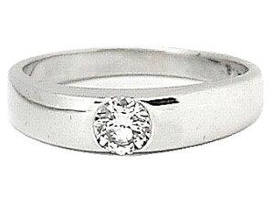 ピンキーリング ダイヤモンド リング ホワイトゴールドk18 一粒 大粒 ダイヤ 指輪 18金 ダイヤモンドリング ストレート 送料無料 人気