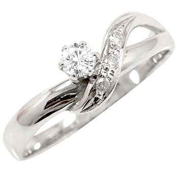 【送料無料】婚約指輪 エンゲージリング 鑑定書付き ダイヤモンドリング ハードプラチナリング 指輪 一粒 ダイヤ SI pt950 ストレート 贈り物 誕生日プレゼント ギフト ファッション