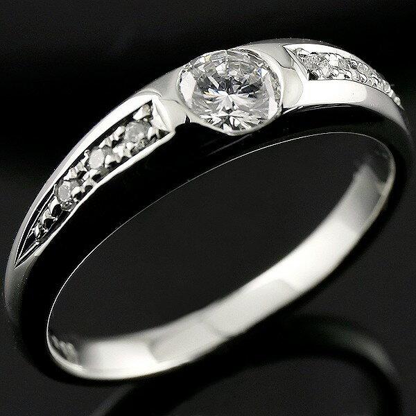 【送料無料】鑑定書付き ダイヤモンド リング ホワイトゴールドK18 婚約指輪エンゲージリング VS 一粒 大粒0.58ct 指輪 18金 ダイヤモンドリング ダイヤ ストレート 贈り物 誕生日プレゼント ギフト ファッション