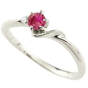 エンゲージリング イニシャル ネーム S 婚約指輪 ルビー ダイヤモンド プラチナ 指輪 アルファベット 7月誕生石 人気 送料無料 LGBTQ 男女兼用