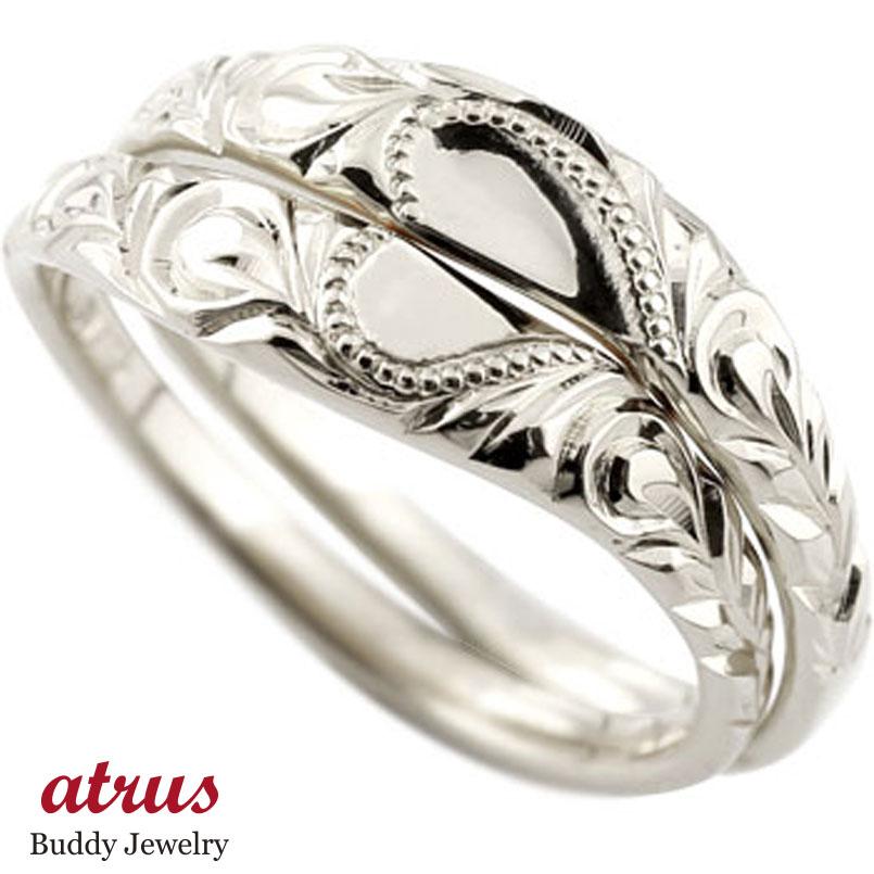 ペアリング ハワイアンジュエリー プラチナ 人気 結婚指輪 マリッジリング ハート ミル打ち 地金リング pt900 ストレート カップル ブライダル結婚指輪 シンプル結婚指輪 人気結婚指輪 ペア シンプル 2本セット 彼女 結婚記念日
