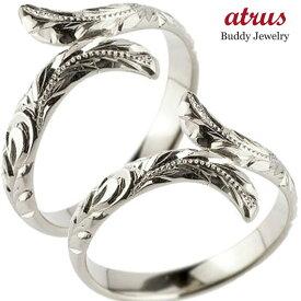ハワイアン ペアリング 人気 結婚指輪 ミル打ち シルバー 地金リング sv925 ストレート カップル 贈り物 誕生日プレゼント ギフト ファッション パートナー 送料無料