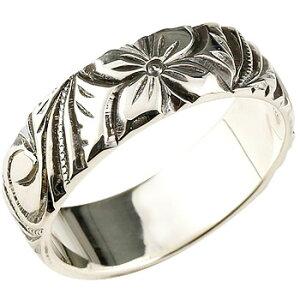 ハワイアンジュエリー ピンキーリング シルバーリング 指輪 燻し ストレート 送料無料