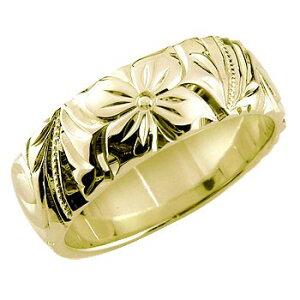 ハワイアンジュエリー リング 指輪 幅広 イエローゴールドk10 ハワイアンリング 地金リング 10金 k10yg ストレート 送料無料