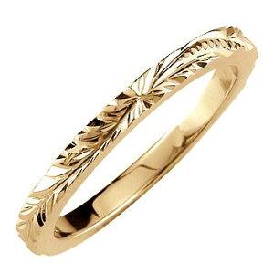 ハワイアンジュエリー ピンキーリング ハワイアンリング 指輪 ピンクゴールドk10 k10 ハワイ 10金 ストレート 送料無料