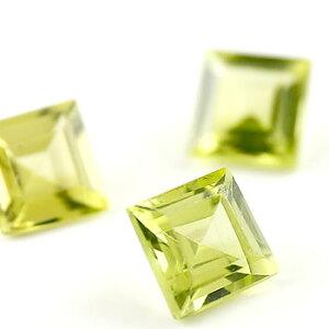 ペリドット スクエア 角 4ミリ ルース 1石 8月誕生石 宝石