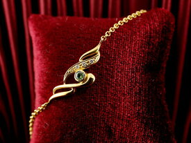 メンズ ペリドット ブレスレット ダイヤモンド イエローゴールドk18 18金 チェーン ダイヤ 男性用 宝石 送料無料