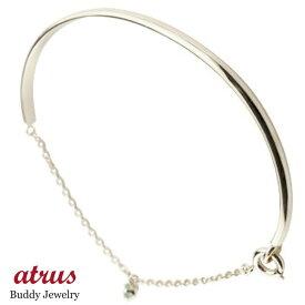 メンズ ペリドット プラチナ ブレスレット 一粒 シンプル 8月誕生石 宝石 送料無料