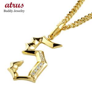 喜平用 メンズ ダイヤモンド ペンダント 数字 5 ナンバー ネックレス トップ イエローゴールドk18 地金 k18 18金 男性用 コントラッド 東京 CONTRAD TOKYO ファッション 18k エンゲージリングのお
