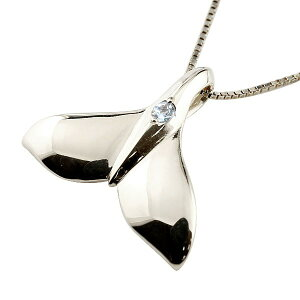 18金 ペンダントトップ ネックレス ハワイアンジュエリー メンズホエールテール クジラ 鯨 ブルームーンストーン ホワイトゴールド 天然石 6月誕生石 k18 人気 宝石 の 送料無料