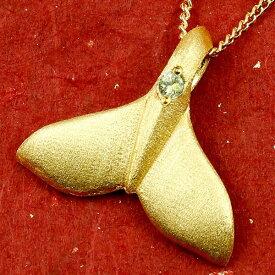 ハワイアンジュエリー 純金 メンズ ホエールテール クジラ 鯨 ペリドット ネックレス トップ ゴールド ペンダント 天然石 8月誕生石 k24 24金 人気 宝石 緑の宝石