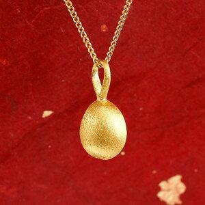 純金 メンズ ネックレス トップ 24金 ゴールド イースターエッグ 卵 24K ペンダント 24金 ゴールド k24 誕生記念 たまご タマゴ 喜平 チェーン 50cm 送料無料