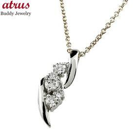 メンズ ダイヤモンド ペンダント ネックレス ダイヤ ホワイトゴールドk18 チェーン 人気18金 男性用 18k 送料無料