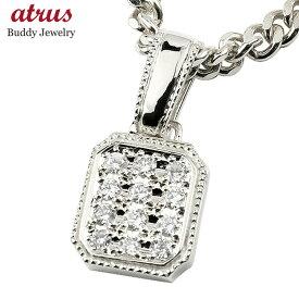 ネックレス メンズ 喜平用 メンズ ネックレス ダイヤモンド ホワイトゴールドK18 ペンダント キヘイ 18金 ダイヤ 男性用