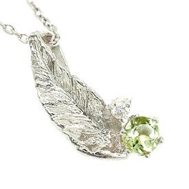 メンズ ペリドット 8月の誕生石ダイヤモンド ペンダントネックレスプラチナ900羽 チェーン 人気ダイヤ 男性用 宝石