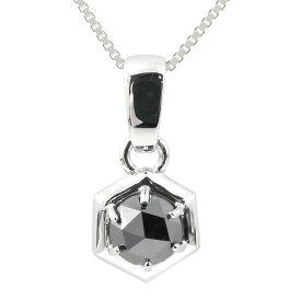 メンズ プラチナネックレス ブラックダイヤモンド 1ct ダイヤ ペンダント pt900 男性用 人気 チェーン トレジャーハンター あすつく 送料無料