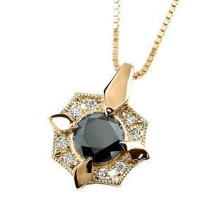 メンズ ネックレス ブラックダイヤモンド シンプル 30代 ピンクゴールドk10 ダイヤ ペンダント トップ 10金 ミル打ち シールド 男性用 人気 の 送料無料