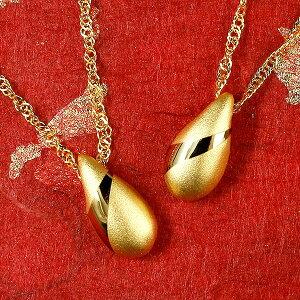 メンズ 純金 ペアネックレス 24金 ゴールド 24K ティアドロップ ペンダント 24金 ゴールド k24 つゆ型 涙型 雫 シンプル 送料無料