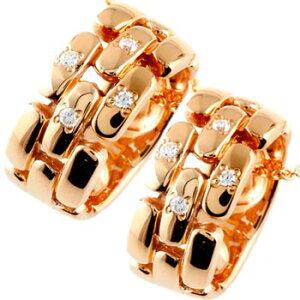 ペアネックレス ダイヤモンド ペンダント ピンクゴールドk18 ダイヤ リングネックレス 18金 チェーン 人気 ストレート カップル 男性用 送料無料