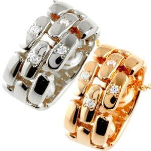 ペアネックレス ダイヤモンド ペンダント プラチナ ピンクゴールドk18 ダイヤ リングネックレス チェーン 人気 18金 ストレート カップル 送料無料