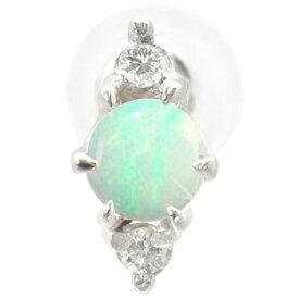 ピアス メンズ プラチナ オパール ダイヤモンド 片耳ピアス プラチナ 10月誕生石ダイヤ 男性用 宝石