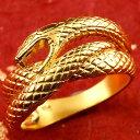 【送料無料】純金 メンズ リング 蛇 ヘビ 指輪 幅広 k24 24金 ピンキーリング スネークデザイン 男性用 贈り物 誕生日…