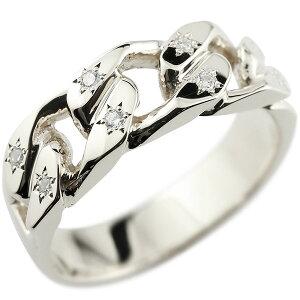 メンズ 喜平リング ダイヤモンド ホワイトゴールドK18 リング 指輪 婚約指輪 18金 キヘイ 鎖 ダイヤ 男性用 コントラッド 東京 送料無料