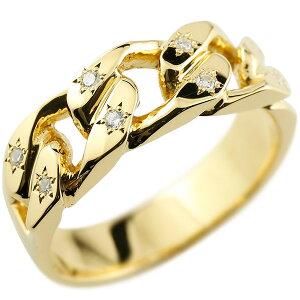 喜平リング ダイヤモンド イエローゴールドK18 リング 指輪 18金 キヘイ 鎖 ダイヤ コントラッド 東京 送料無料 LGBTQ ユニセックス 男女兼用