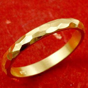 24金 メンズ リング 純金 指輪 ゴールド 24k k24 シンプル ストレート 金 甲丸 地金 槌目 槌打ち ロック仕上げ 男性用 送料無料 人気