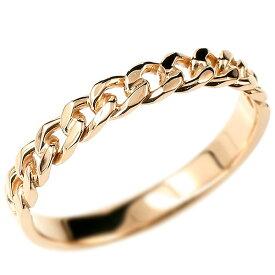 メンズ ピンクゴールドk10 喜平リング 指輪 ストレート 10金 男性用 地金 エンゲージリングのお返し