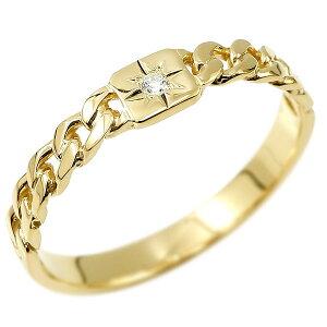 リング メンズ 喜平 18金 ダイヤモンド 一粒 ゴールド 金 シンプル イエローゴールドk18 指輪 ダイヤ ストレート 男性用 コントラッド 東京 送料無料