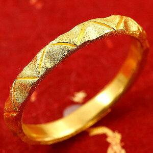 純金 メンズ 24金 ゴールド k24 指輪 ピンキーリング ホーニング加工 婚約指輪 エンゲージリング 地金リング 17-21号 ストレート 送料無料