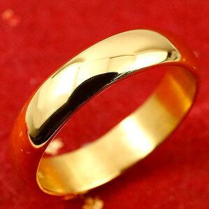 純金 24金 ゴールド k24 幅広 指輪 ピンキーリング 婚約指輪 エンゲージリング 地金リング 1-10号 ストレート メンズ 送料無料