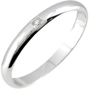 メンズリング 人気 ピンキーリング ダイヤモンド リングホワイトゴールドK18指輪 18金ダイヤ ストレート 2.3 男性用 宝石 送料無料