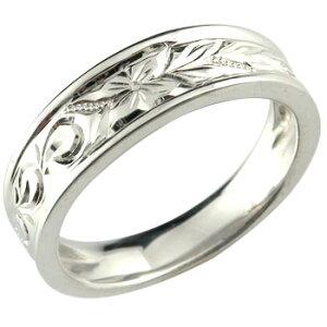 ハワイアンジュエリー メンズ ハワイアンリング 指輪 プラチナリング プラチナ900 オリジナルリングストレート 男性用 送料無料