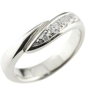 メンズ ダイヤモンド リング 指輪 ピンキーリング ダイヤ ダイヤモンドリング ホワイトゴールドk18 スパイラル ウェーブリング 18金 送料無料 人気