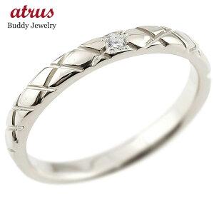 メンズ プラチナ ピンキーリング ダイヤモンドpt900 アンティーク ストレート チェック柄 指輪 ダイヤリング 送料無料 人気