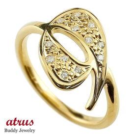 メンズ ピンキーリング ダイヤモンド ナンバー9 イエローゴールドk10 10金 リング 指輪 数字 ストレート 男性 送料無料