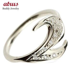 メンズ ピンキーリング キュービックジルコニア ナンバー2 プラチナ pt900 リング 指輪 数字 ストレート 男性 送料無料 人気