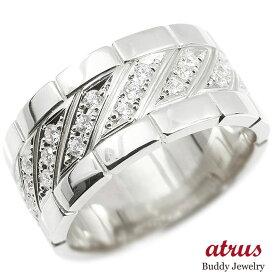 メンズ プラチナリング ダイヤモンド 幅広 指輪 リング ダイヤ pt900 ピンキーリング 男性用 送料無料