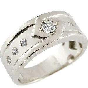 メンズリング プラチナ ダイヤモンド リング ピンキーリング 指輪 pt900 指輪 ダイヤ 送料無料 人気